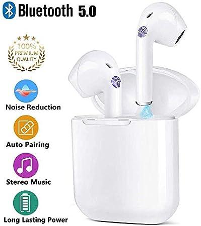 Auriculares Bluetooth 5.0 Auriculares Bluetooth Inalámbrico Stereo 3D in Ear con HD Mic, IPX5 Resistentes al Agua con cancelación de Ruido Compatible con Apple Airpods/Android/iPhone