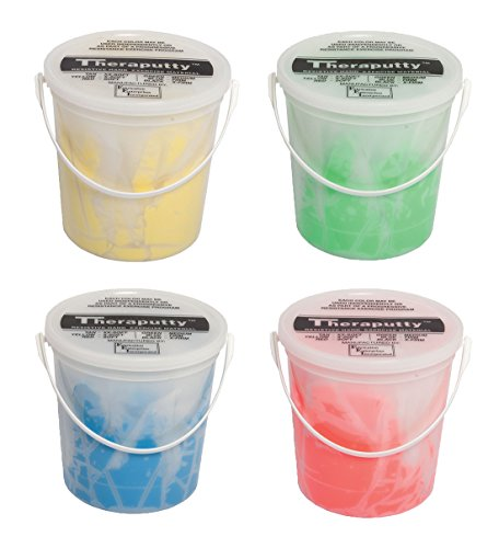 TheraPutty Antimicrobial Exercise Putty Yellow, Red, Green, Blue 5 LB Each - Bundle by Theraputty