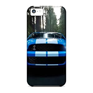 Tpu RomeoJr Shockproof Scratcheproof Ford Shelby Blue Hard Case Cover For Iphone 5c
