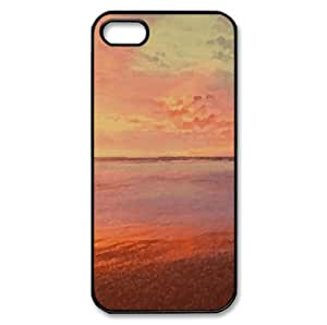 Sea Sunrise Watercolor style Cover iPhone 5 and 5S Case (Beach Watercolor style Cover iPhone 5 and 5S Case)