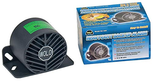 (Wolo Back Up Alarm, 112dB, Black, 3-1/2 In. H - BA-550)