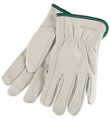 Mens Goatskin Leather Work Gloves by Wells Lamont - Y0769 - XS