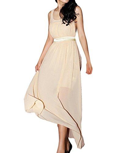 Traje de neopreno para mujer sin mangas de apoyo recta de para el cuello con diseño de Color e instrucciones para hacer vestidos blanco crema