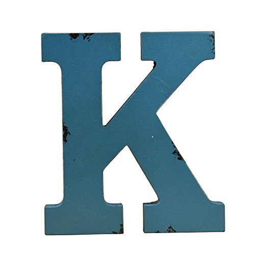 WINGONEER Multi-Color Wood Alphabet Letter Sign Name Kids Room Wedding Nursery Decoration - K