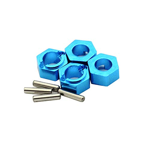 DiDi/iRC Blue 7mm Aluminum Wheel Hex Mount Hubs Adapter Stub Axle Pins Upgrade Parts For WLtoys 1/18 A949 A959 A969 A979 K929