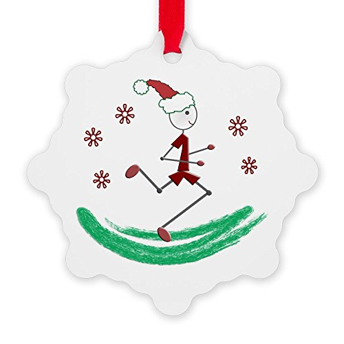 CafePress - Holiday Runner Guy - Snowflake Ornament, Decorative Christmas Ornament