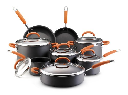 Rachael Ray Hard Anodized Nonstick 14-Piece Cookware Set, Or