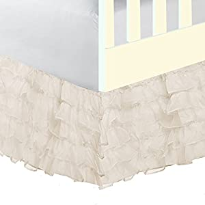 Baby Doll Bedding Layered (5 Tiered) Nuetral Crib Skirt/Dust Ruffle, Ecru