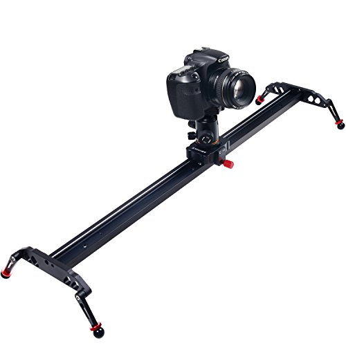 ASHANKS 31'' 80cm Camera Video Slider,4 Ball-bearings Camera Track Stabilizer Rail, Portable Film Maker System for DSLR DV Camcorder Movie Photography to Wedding Shooting and Youtuber Film-making by ASHANKS