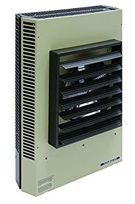 """TPI Corporation P3P5115CA1N Fan Forced Unit Heater, Horizontal or Vertical Mounted, 43 Degree Temperature Rise, 32"""" Air Throw Distance, 15KW Wattage, 480 Volt"""