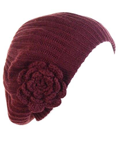 Ribbed Knit Beret - 4