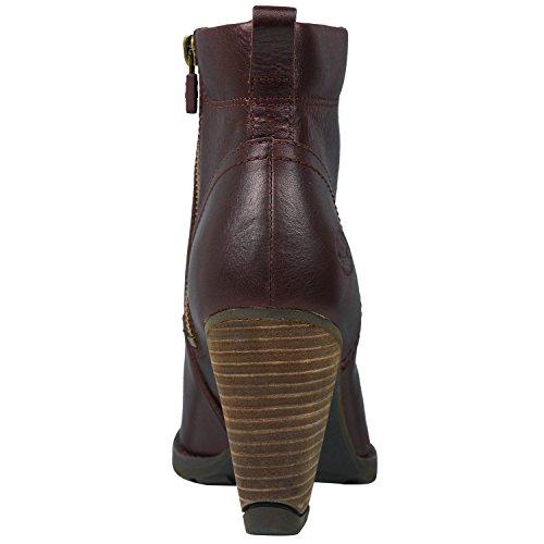Timberland Damen EK Stratham Hights Side Zip Ankle Boots Burgundy (8615A)