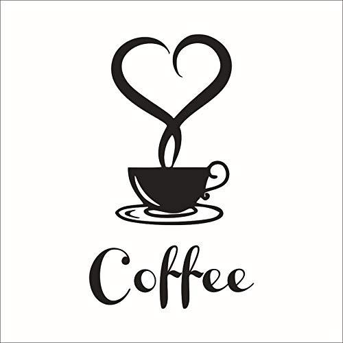 N / A Accesorios para el hogar Tazas de café pegatinas de pared en la cocina vinilo arte pegatinas de pared adhesivo…
