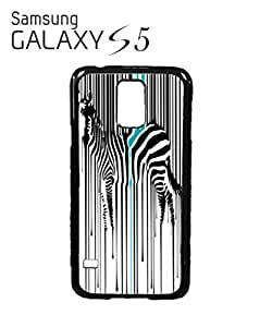 Dripping Zebra Art Animal Barcode Mobile Cell Phone Case Samsung Galaxy S5 White