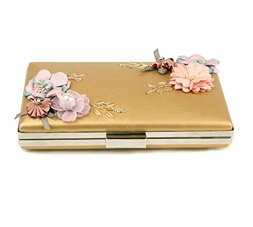 Purse YING Gold Bags Womenfs Pearl Prom Clutches Evening Clutch Handbags Flower EUPHIE Beaded Wedding O7qdO