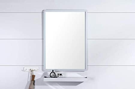Lqy Specchio Per Bagno Specchio Per Bagno Specchio A Parete Per Bagno Con Specchio In Alluminio A Parete Con Specchio White Amazon It Casa E Cucina