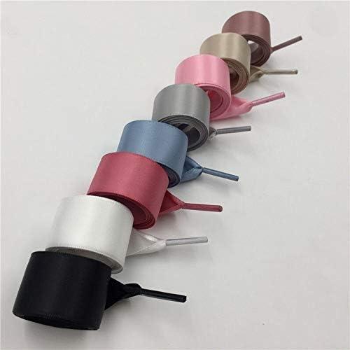 XJYWJ シフォン両面光沢のある靴ひも70〜160センチメートルフラットシルクリボン靴ひもスニーカー2.22センチメートル幅配送 (Color : 1530 1 Vintage Rose, Size : 80cm)