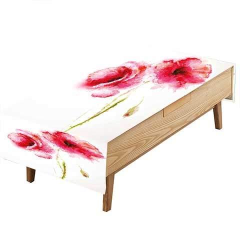 PINAFORE 装飾テーブルクロス フラワーフラワー 香り ペールプラント 結婚式 野外パーティーに 幅50×長さ80インチ。 W60