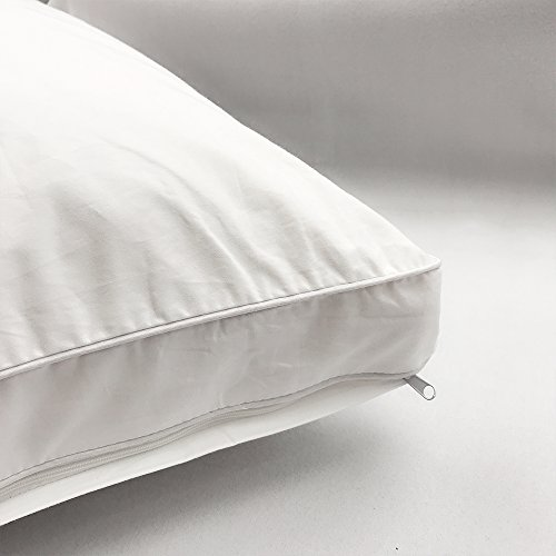 2-pack pillowcases, sweetnight Dust Mite white Pillow Protectors with soft & Hypoallergenic, Bed Bug Resistant bacteria 100% Cotton Zippered Pillow Covers,Queen size by Sweetnight (Image #1)