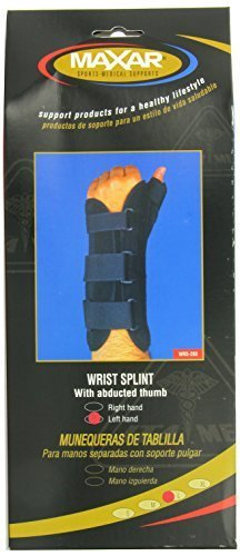MAXAR WRS-203L Large Wrist Splint with Abducted Thumb Left Hand by ITA-MED CO
