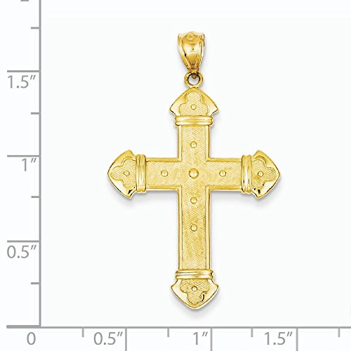 14 Carats Pendentif croix-Dimensions :  26,3 x 41,8-JewelryWeb mm