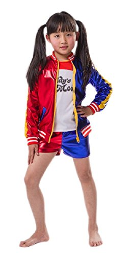 Girl's Cosplay Costume Halloween Jacket T-Shirt Shorts Suit Set for Kids