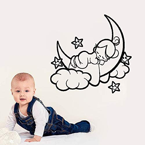 Jisou Wall Stickers Decal Removable Vinyl Decal Quote Art Good Little Baby for Nursery Kids Room Girls Boys Room ()