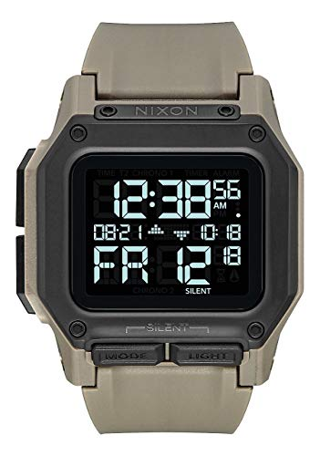 Nixon Regulus All Sand Men's Water and Shock Resistant Digital Watch. (46mm. Sand Digital Watch Face/Sand Locking Looper Band)