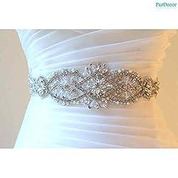 Rhinestone Studded Bridal Crystal Sash