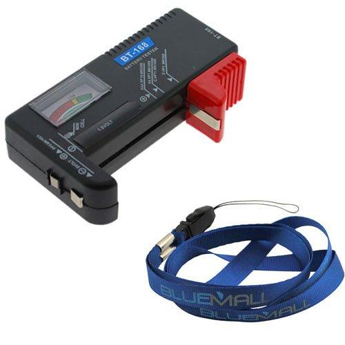 SODIAL(R) Comprobador de Bateria Universal para Baterias AA/AAA/C/D/9V/Pila de Boton - Negro - Incluida una Cinta Azul 002391