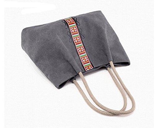 pack grande Borsa capacità vento nazionale semplice a borsa A tracolla borsa singola grande tela a B retrò arte di pulita borsa UUZnq6rw