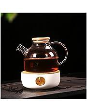 Cosy-YcY ceramiczny podgrzewacz do czajniczek, podgrzewacz do herbaty podstawa do szklanego dzbanka, porcelanowy podgrzewacz do herbaty (trzeci styl)