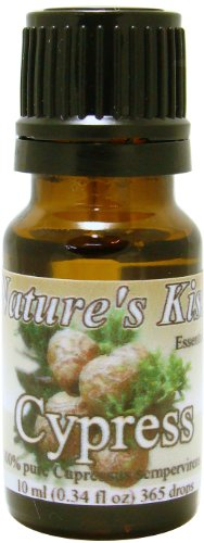 Nature's Kiss 100-Percent Pure Extremely Therapeutic Grade Cypress Essential Oil, 0.34-Ounce