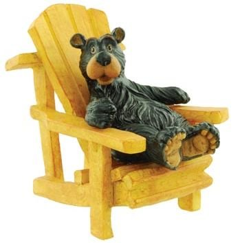 Willie Bear Relaxing in Adirondack Chair