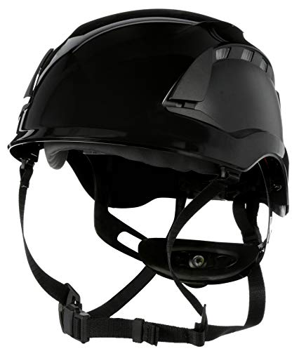 3M SecureFit Safety Helmet/Hard Hat, Climbing Style, Construction, Manufacturing, Forestry, Utilities, Work at Height, X5012V-ANSI, Vented, Black