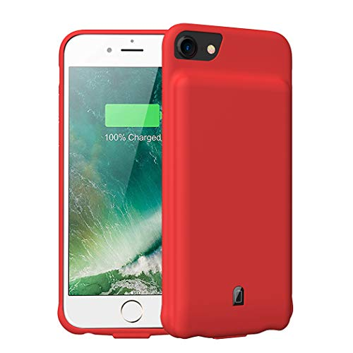 Battery Case for iPhone 6/6s/7/8,4500mAh Portable Protective Charging Case Compatible with iPhone 6/6s/7/8 (4.7 inch) Rechargeable Extended Battery Charger Case-Red New