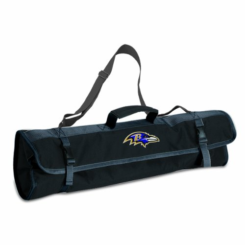 NFL Baltimore Ravens 3-Piece BBQ Tool - Nfl Tailgate Tote Canvas