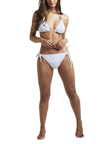 Lipsy Mujer Braguitas de bikini con pedrería Blanco