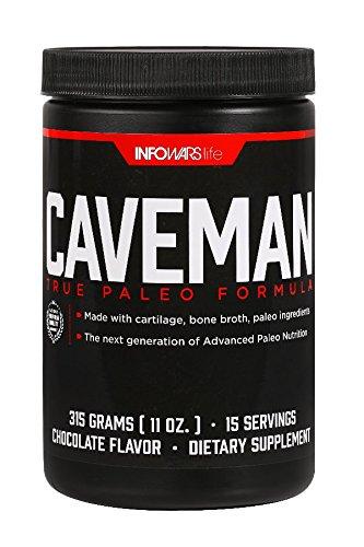 Caveman True Paleo Formula (15 Servings, Chocolate) – Bone Broth Protein Powder with Collagen, Turmeric Root, Chaga Mushroom, Bee Pollen & other Ancient Supernutrients