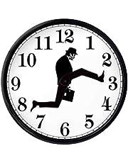 chenqian Ministry of Silly Walks Clock - Silly Walk Väggklocka Kreativ Väggklocka Konst Rolig Promenad Tyst Tyst Klocka för Vardagsrum Inredning Väggklocka Brittisk Komedi Inspirerad - 25 x 25 cm