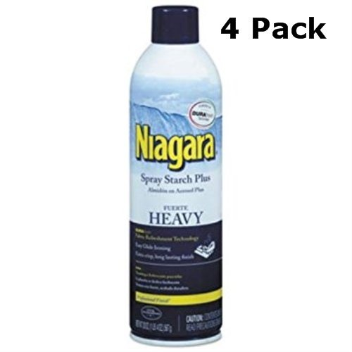 Niagara Heavy Spray Starch Plus Durafresh, Professional Finish, 20 Oz (4 Pack) by NIAGARA