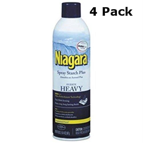 Niagara Heavy Spray Starch Plus Durafresh, Professional Finish, 20 Oz (4 Pack)