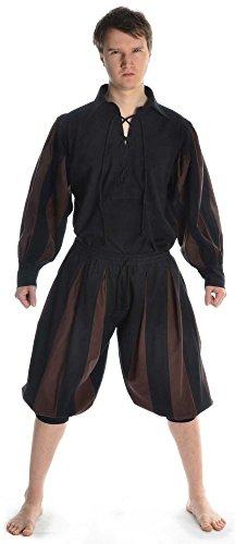 Médiéval Calf Noir Marron Noir marron longueur Noir Pur Hommes Hemad xxxl S Pour rouge vert Landsknecht Coton Pantalons XZnTqxwEAB