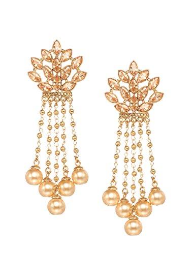 6f43ac9d0 Bindhani Fashion Bollywood Jewellery Traditional Ethnic Bridal Bride Wedding  Bridesmaid Gold Plated Kundan Long Faux Pearl Drop Jhumka Jhumki Indian ...