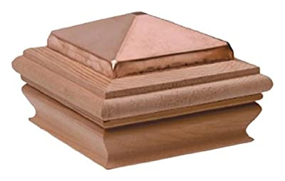 Woodway Products 870.3127 6-by-6-Inch Large Mahogany Copper Pyramid Post Cap