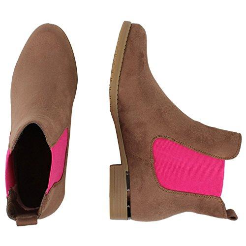 Japado - Botas Chelsea Mujer - Braun Pink