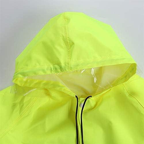 MUCHENG ZI Impermeabile Fluorescente Lungo Giallo Un Pezzo Raincoat Riflettente Escursione Esterno di Corpo Raincoat Completa Impermeabile (Taglia : M)