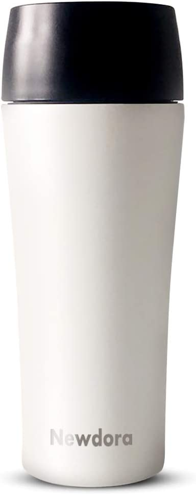 Newdora Thermobecher Dunkelgr/ün Auslaufsicher Reisebecher f/ür Kaffee,Tee,Trinkflasche f/ür Reisen,Arbeit,Schule,Fahren Kaffee to go 380ml Becher Travel Mug Isolierbecher Kaffeebecher BPA-frei