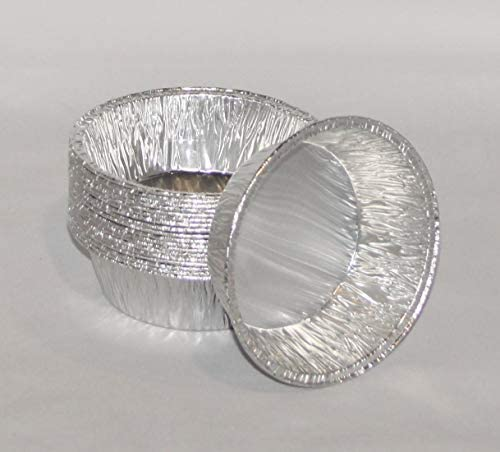 100 x Kleine Aluminium Taart Schalen