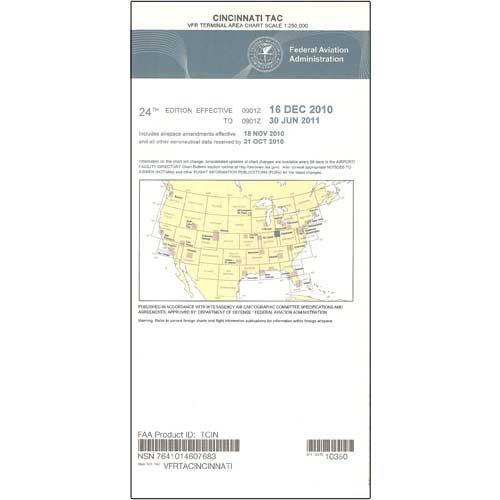 FAA Chart: VFR TAC CINCINNATI TCIN (Current Edition) by FAA Charts